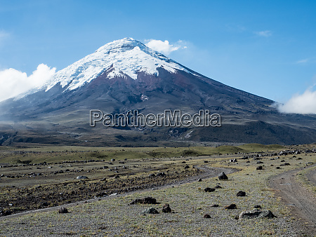 rubble fields from cotopaxi volcano cotopaxi