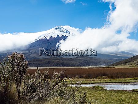 limpiopungo, lake, and, cotopaxi, volcano, , cotopaxi - 27050610