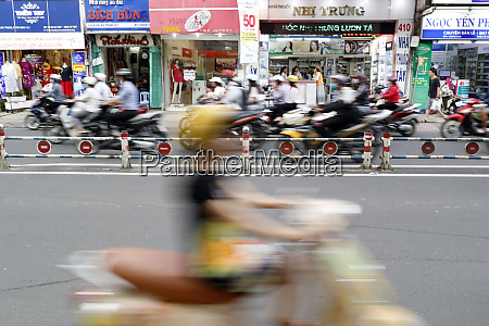 motorbikes on the street ho chi