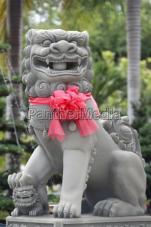 imperial guardian lion statue chau doc