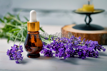 aromatherapy lavender essential oil bottle