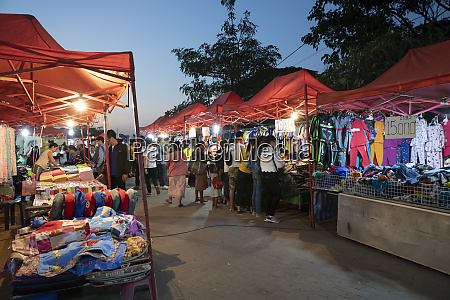 night market at the chao anouvong