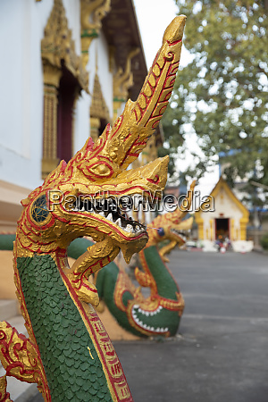 naga guardian at the wat inpeng