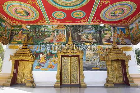 murals and golden doors at the