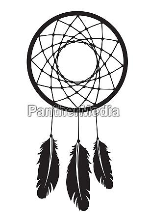 dreamcatcher black silhouette magic traditional culture