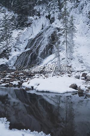 fan falls in winter alberta canada