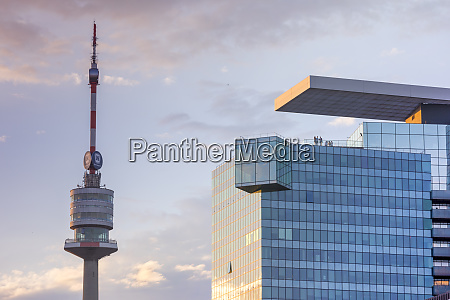 danube tower and saturn tower at