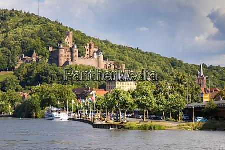 wertheim castle river main baden wurttemberg