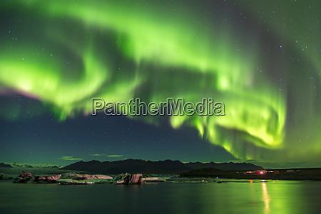 amazing aurora borealis northern lights display