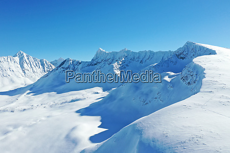 drone view of lyngen alps nordlenangen