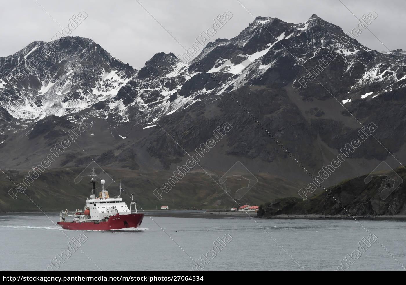 british, antarctic, survey's, research, vessel, james - 27064534
