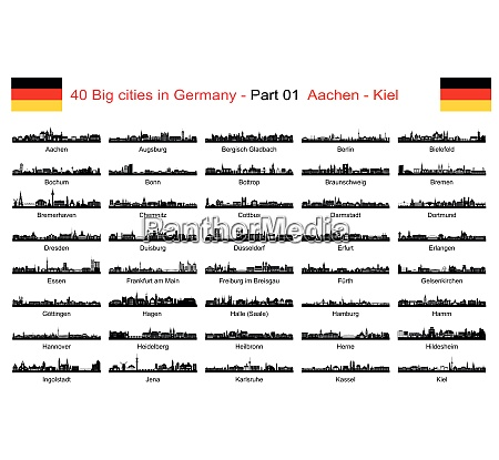 40 big cities in germany