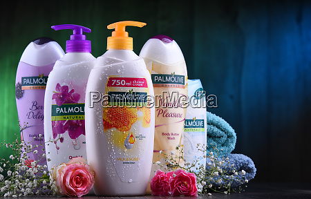 containers of palmolive cosmetics