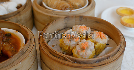 chinese dim sum in the restaurant