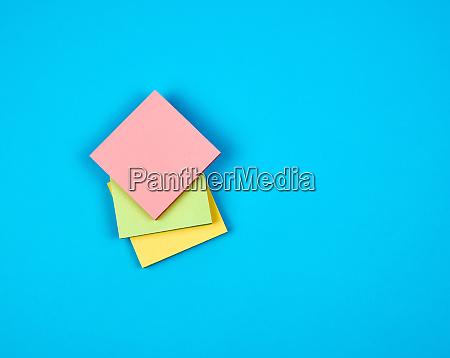 multicolored empty paper square stickers