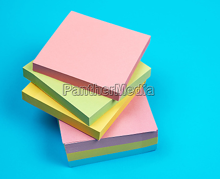 stack of multicolored empty paper square