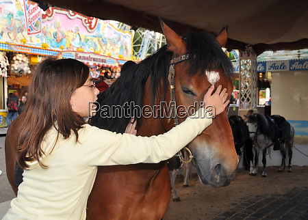 horse and little girl at a