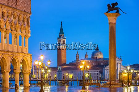 piazza san marco at night venice