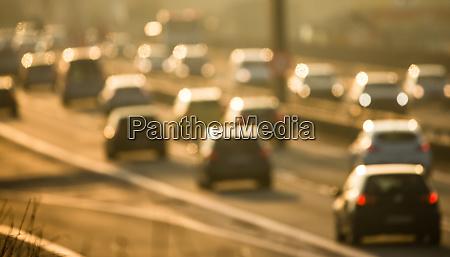 heavy morning city trafficcongestion concept