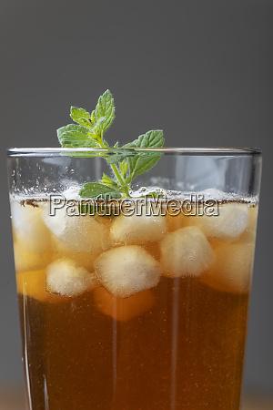ice tea on grey background