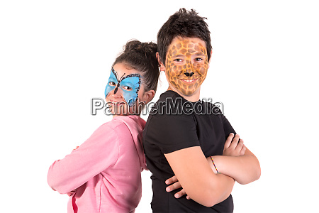 kids with face paint