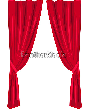 red curtain theater stage classic interior