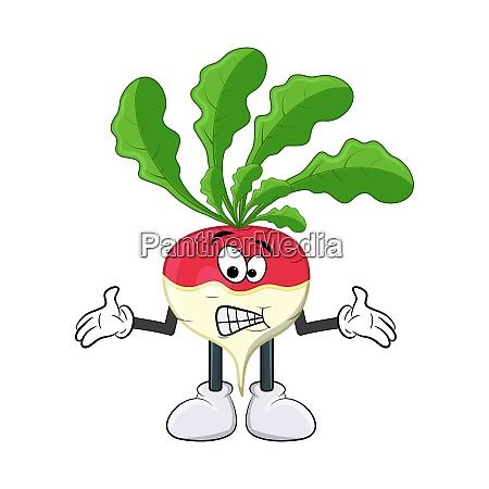 turnip confused cartoon character illustration