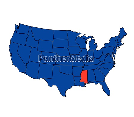 state of mississippi location