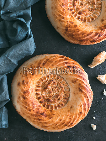 tandoor bread on black table
