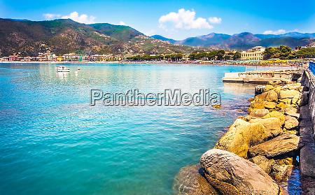 waterfront of sestri levante liguria italy