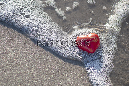 red heart with text on the