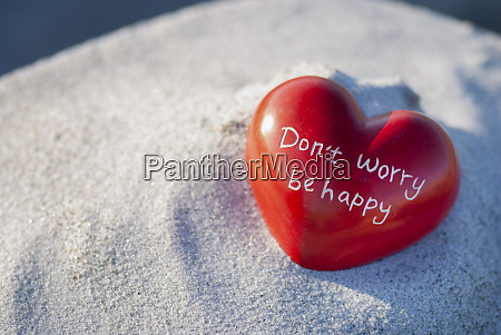 red heart with message on the