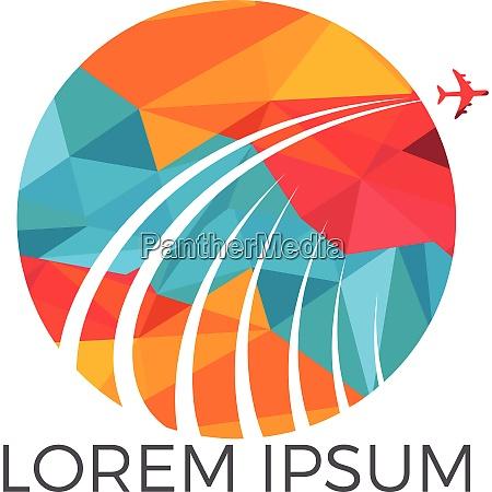 travel logo travel agency adventure creative