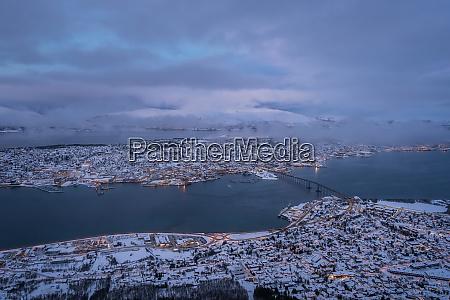 tromso town in winter
