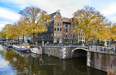 canal houses at korte prinsengracht in