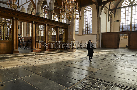 interior of oude kerk old church