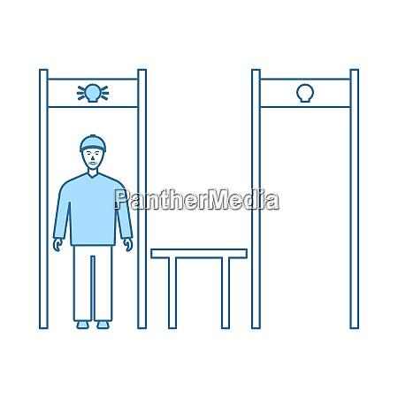 stadium metal detector frame icon