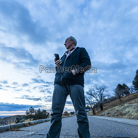 low angle view of man holding