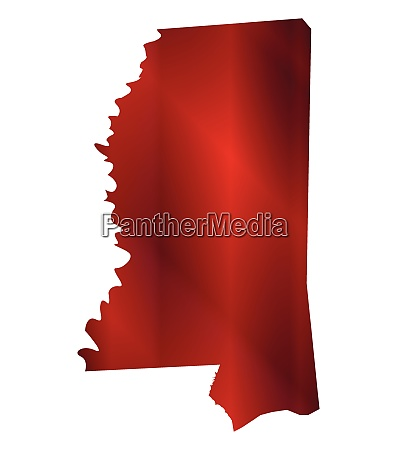 mississippi state map silhouette