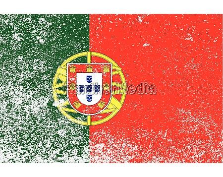 portuguese national flag grunge