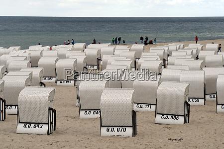 beach chairs on the baltic sea