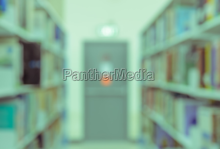 blurred abstract background of library with