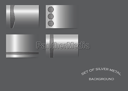 set of silver metallic backgrounds