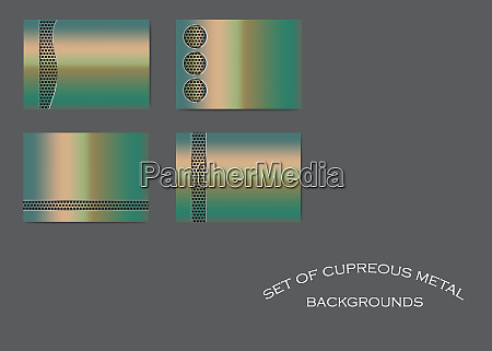 four copper metallic backgrounds