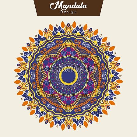 abstract colorful mandala design vector