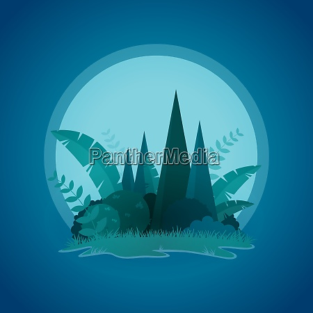 vector design of tropical little island