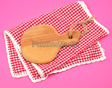 kitchen wooden cutting board and white