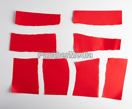 various blank pieces of red paper