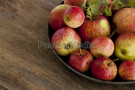 rustic still life with apples