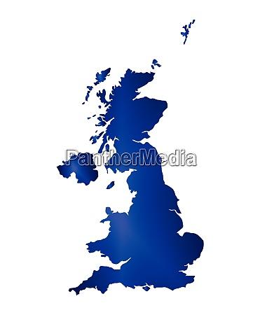 united kingdom map silhouette